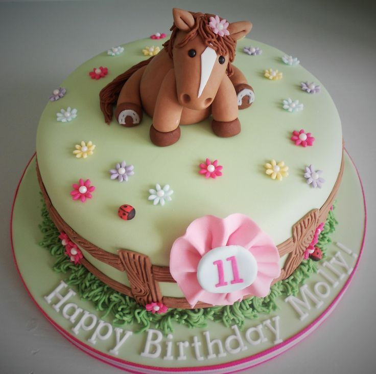 Girly Horse Birthday Cake By Little Aardvark Cakery Www - Horse themed birthday cakes