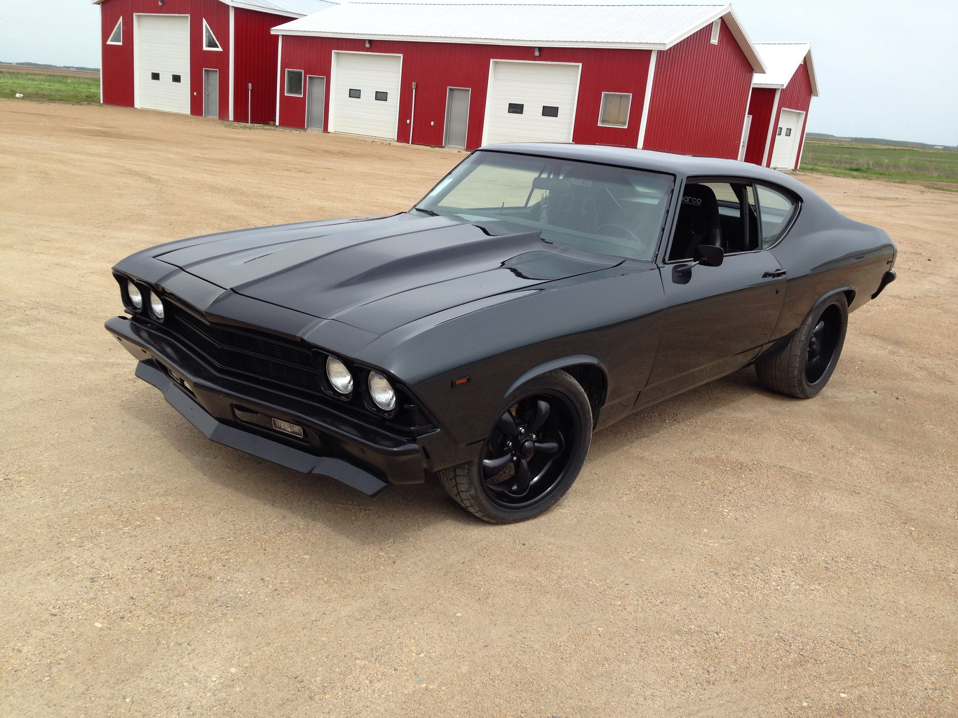 Protouring 1969 Chevelle Dark Grey With Black Stipe