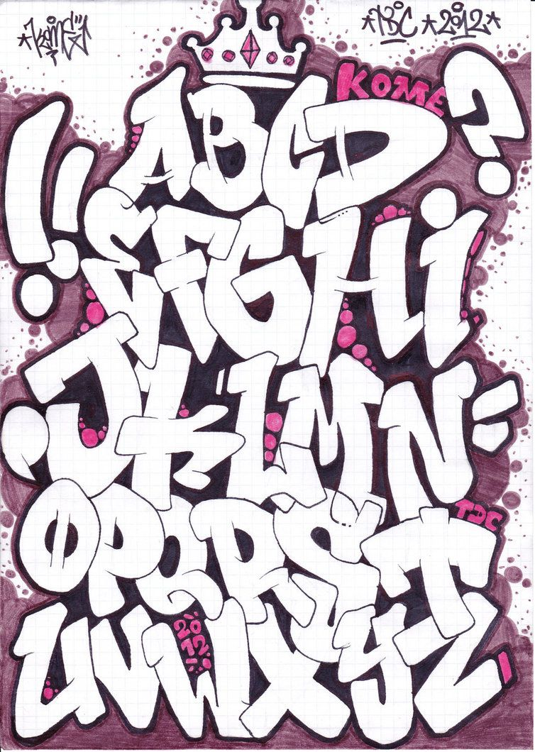Images For > Graffiti Fonts Alphabet | fonts | Graffiti font ...
