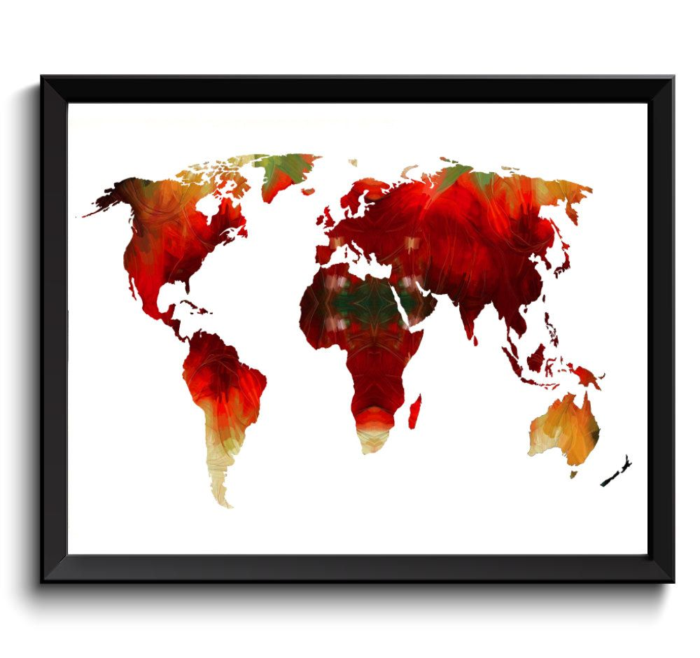 Oil painting world map art printable world map digital world map oil painting world map art printable world map digital world map art acrylic gumiabroncs Image collections