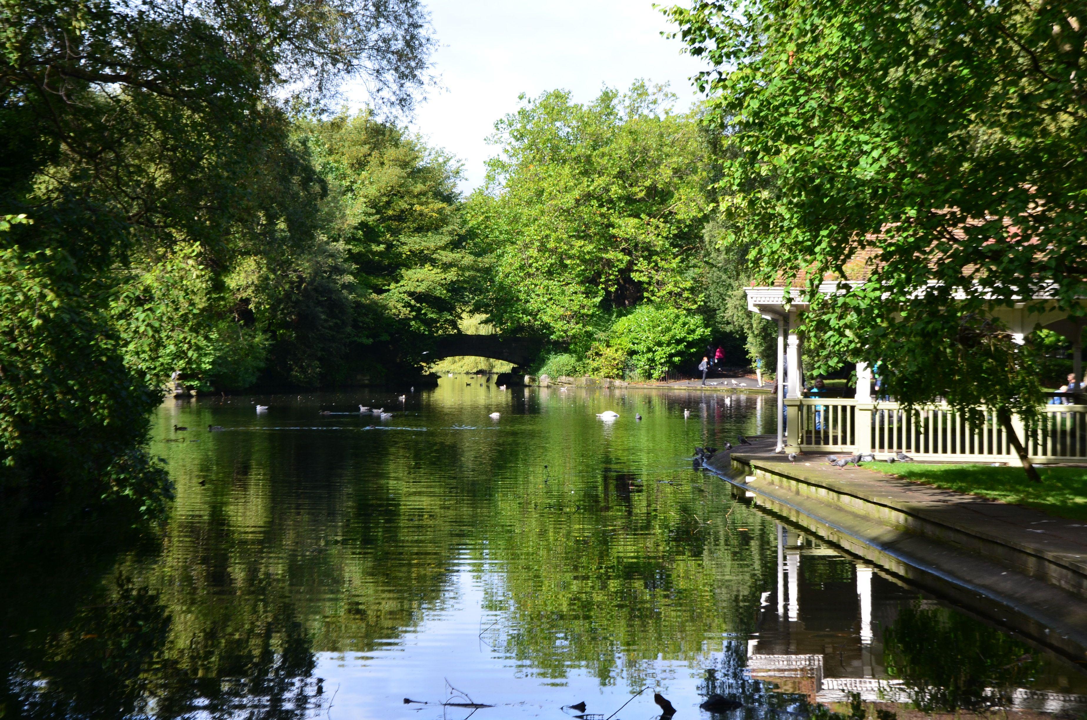 St Stephen Green Park à Dublin, Irelande