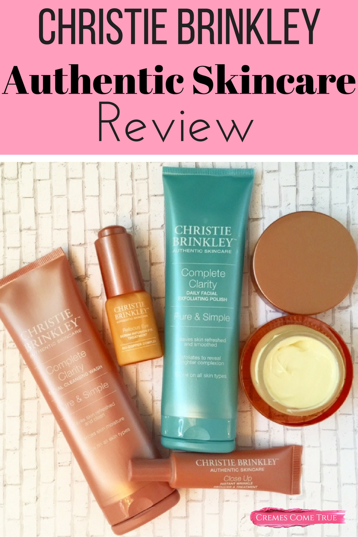 Review Of The Christie Brinkley Authentic Skincare Line Antiaging Skincare Christie Brinkley Skin Care Anti Aging Skin Products Anti Aging Skin Care