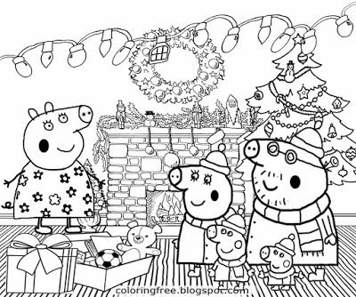 Gifts Grandpa And Granny Pig Family Christmas Peppa Pig Colouring