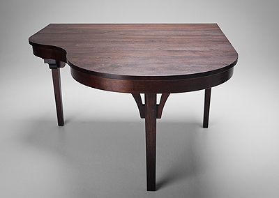 Lovely Piano Shaped Dining Table. :D