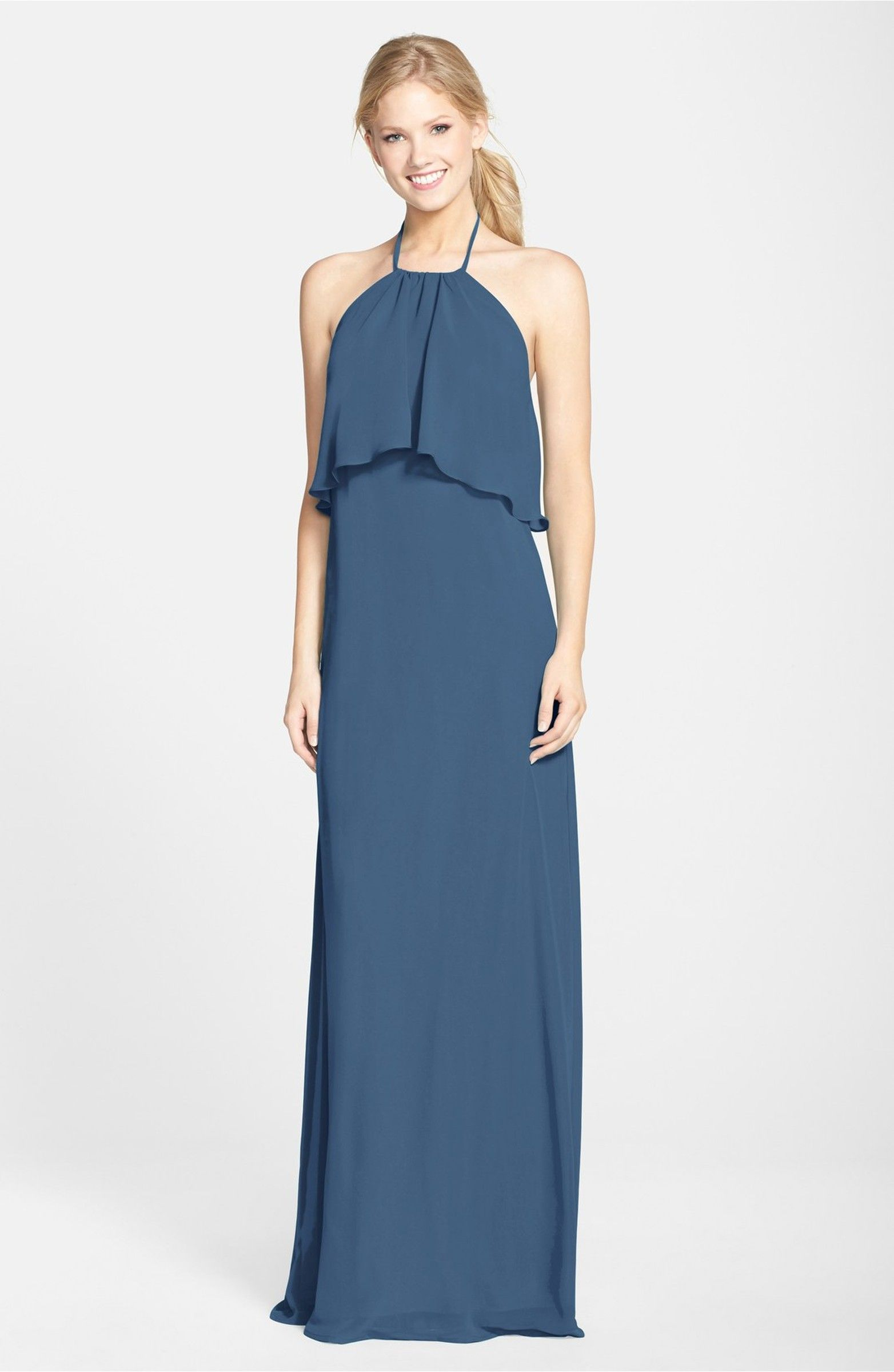 Cait\' Chiffon Halter Gown | Halter gown, Gowns and Nordstrom