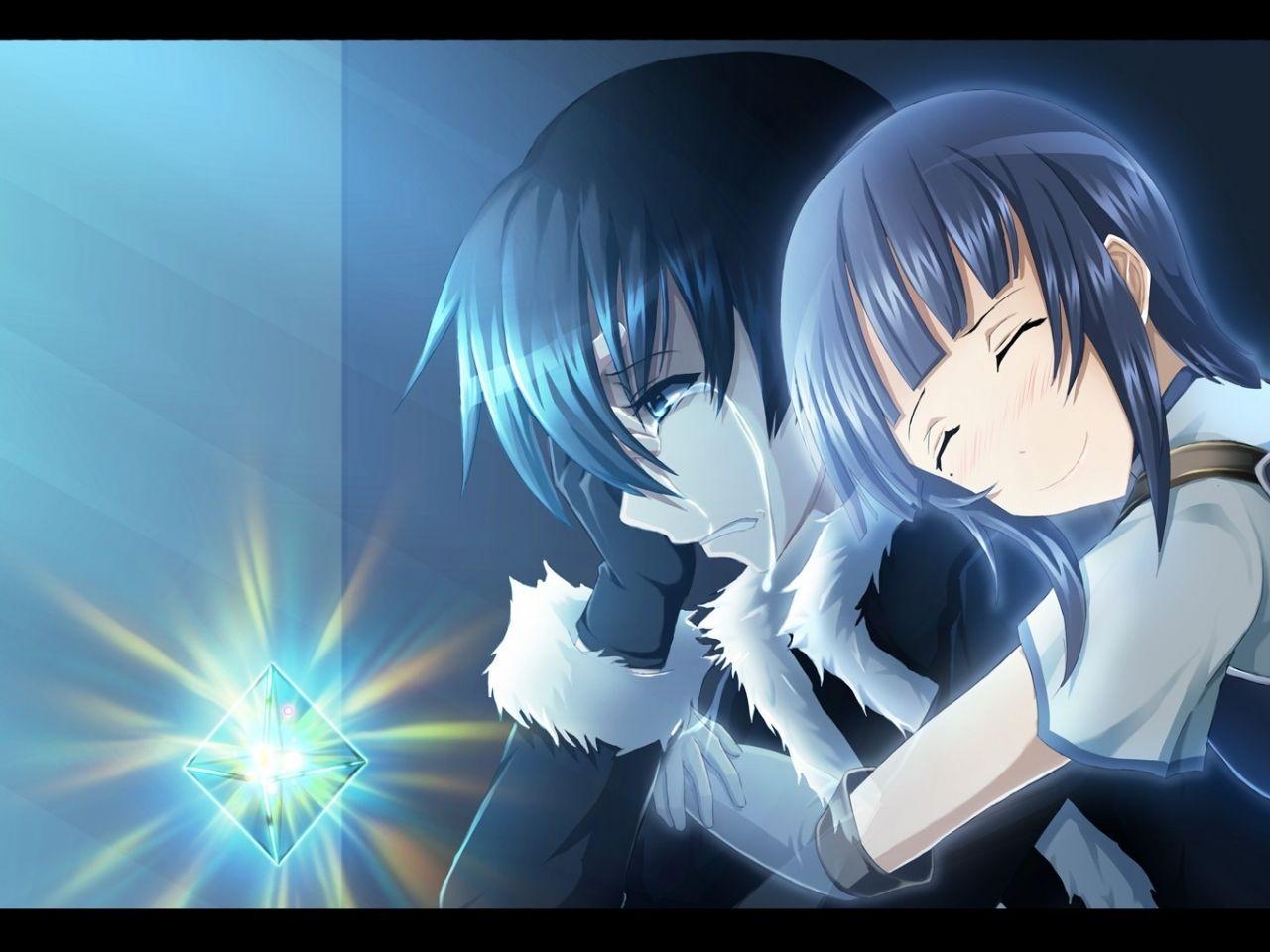 ojos azules azules pelo corto anime boys pelo azul