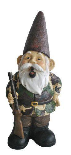 KelKay 4808 Camo Hunting Gnome Garden Decor Statue Kelkay Http://www.amazon