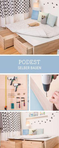 diy f r zuhause podest aus holz selbermachen how to build a wooden platform for your home. Black Bedroom Furniture Sets. Home Design Ideas
