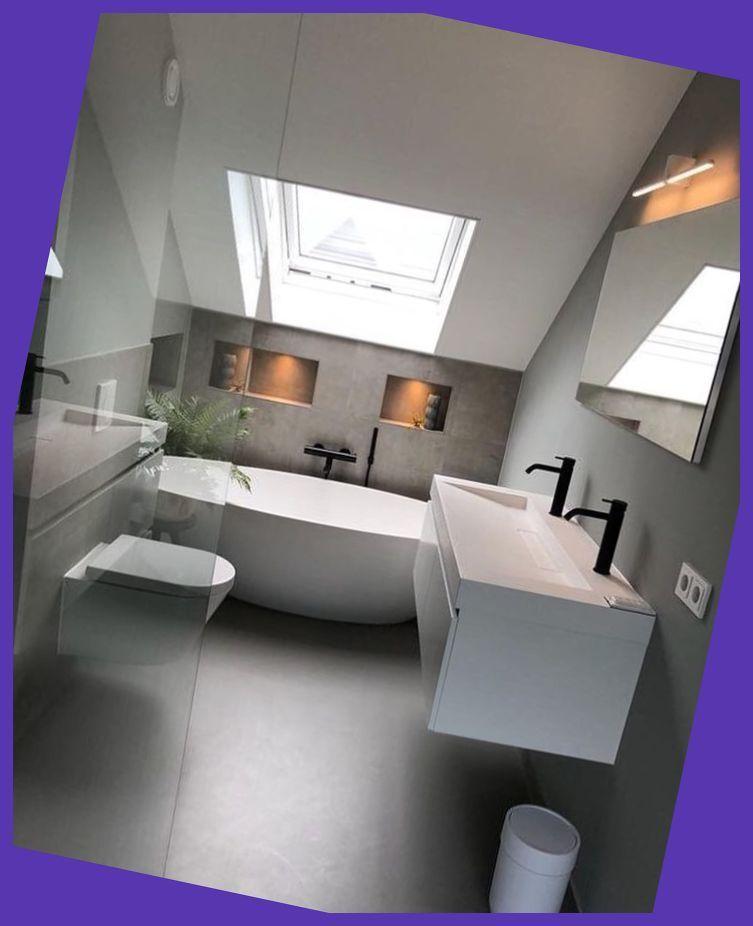 Breathtaking Attic | Sloped ceiling bathroom, Attic ...