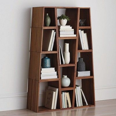 Our Modern Modular Shelving System Is Designed With Angular Cubes