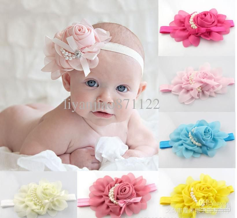 Accessories Toddler Kids Girls Baby Lace Flower Headband Hair Bow Headwear