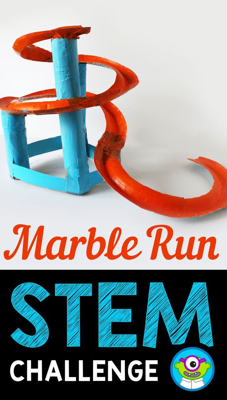 STEM Activity Challenge Marble Run 3rd-5th grade #stemactivitieselementary