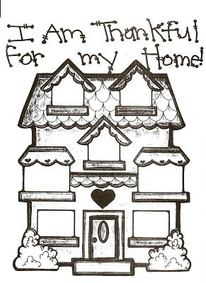 31 I Am Thankful For My Home Nursery Activities Lds Coloring