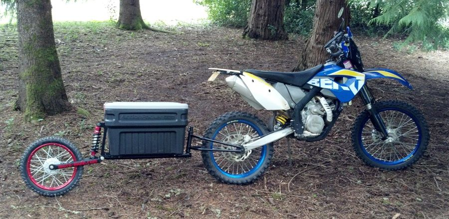 Moto Mule A Cargo Trailer To Pull Behind Your Dual Sport Motorcycle Motorcycle Trailer Motorcycle Camping Gear Motorcycle Camping