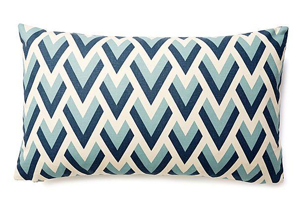 Best Geo 12X20 Pillow Blue On Onekingslane Com Pillows 400 x 300