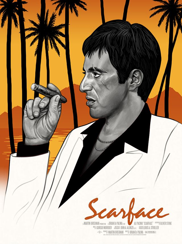 scarface poster designs by mike mitchell movie posters