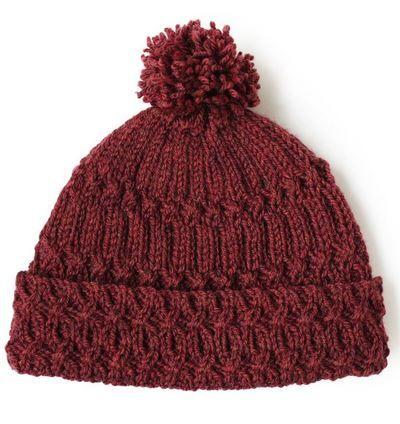 Marsala Pom Pom Knit Hat Pattern Knitting Pinterest Knitted