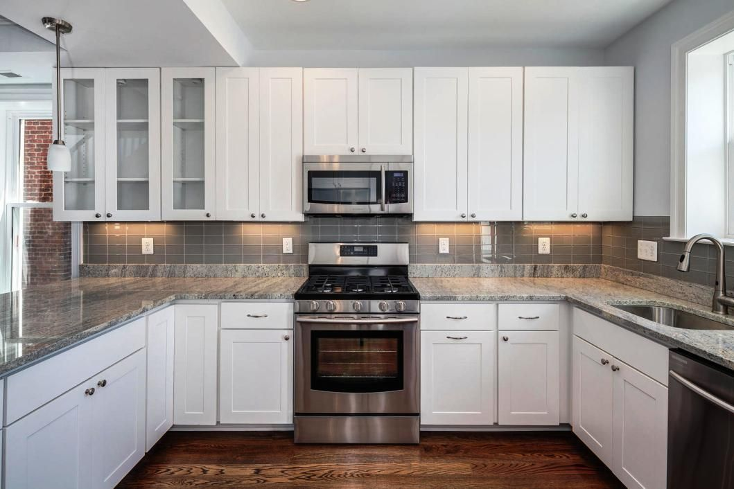 Long Grey Subway Tile In Kitchen Google Search Grey Subway