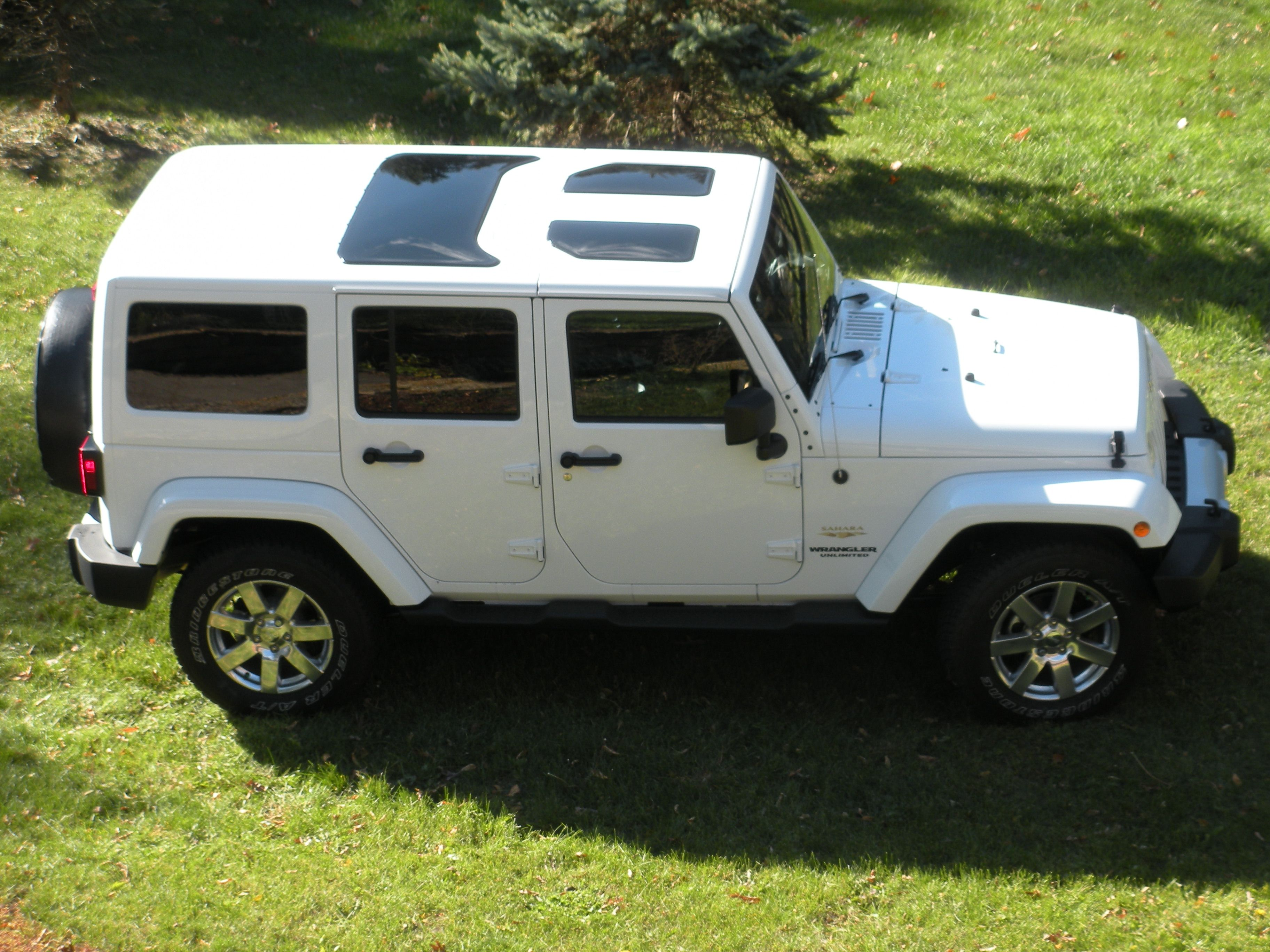Awesome White Jeep Wrangler JK Hard Top Glass Inserts Sunroofs