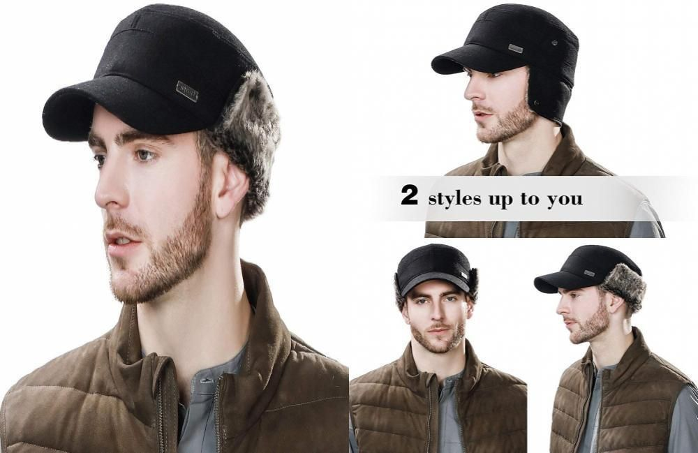 SIGGI Winter Wool Baseball Cap Earflap Hat Fitted Hunt Military Hats Soft  Lined  fashion  clothing  shoes  accessories  mensaccessories  hats (ebay  link) e74e08cb67b