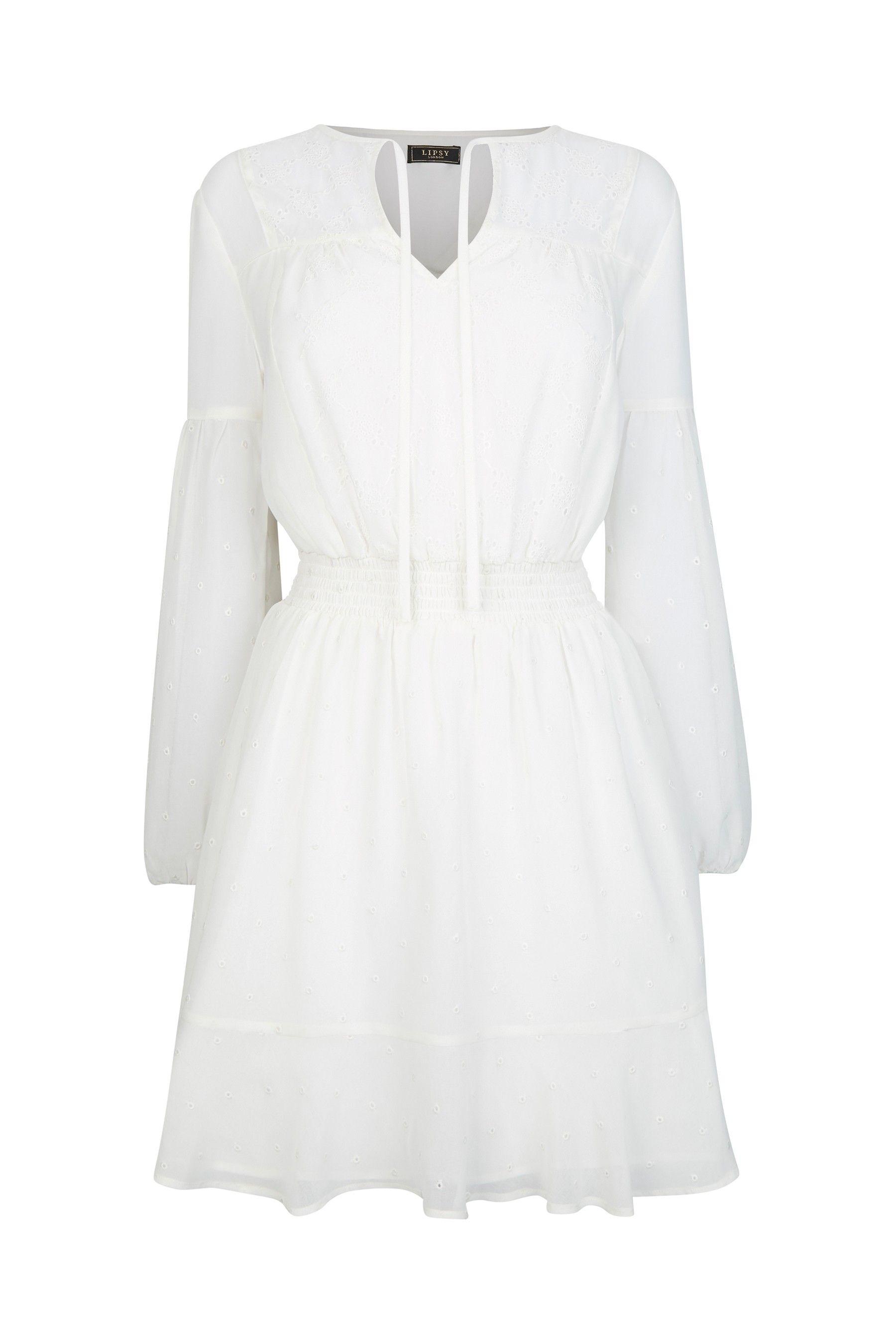 64e4973b62585 Womens Abbey Clancy x Lipsy Shirred Mini Dress - White in 2019 ...
