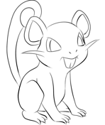 rattata from generation i coloring