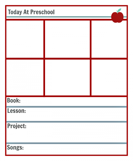 Preschool Lesson Planning Template  Free Printables  Preschool
