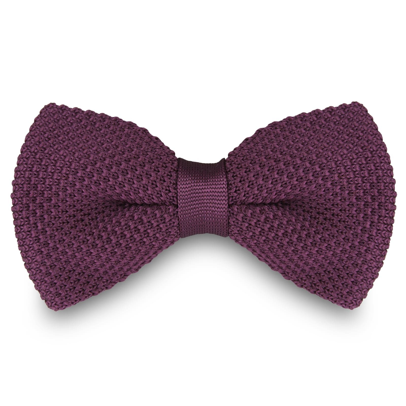 Photo of Mauve Knitted Bow Tie | In stock! | Tailor Toki