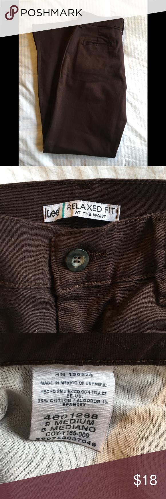 LEE Brand Brown Pants 8 MediumEUC Worn several times for