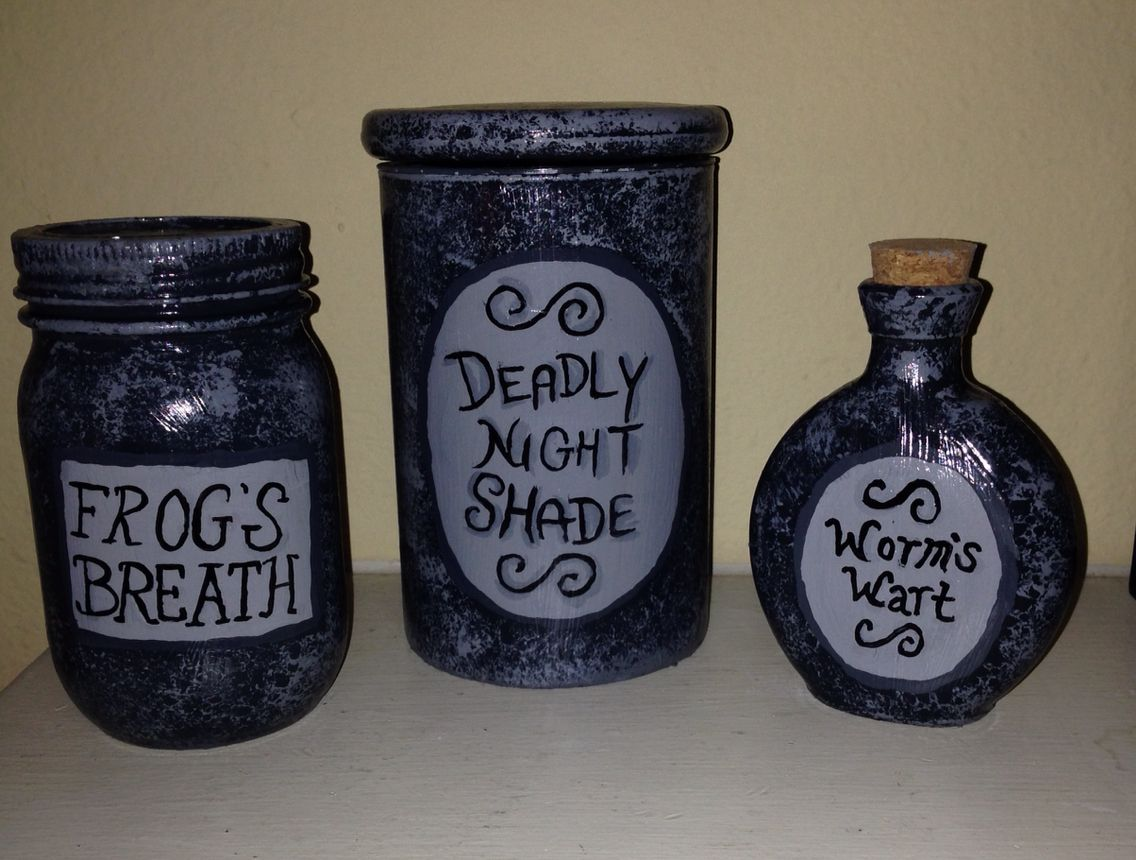 New Sally S Jars From The Nightmare Before Christmas Available At Savvysamshomemades Etsy Shop Jar Crafts Jar Nightmare Before Christmas