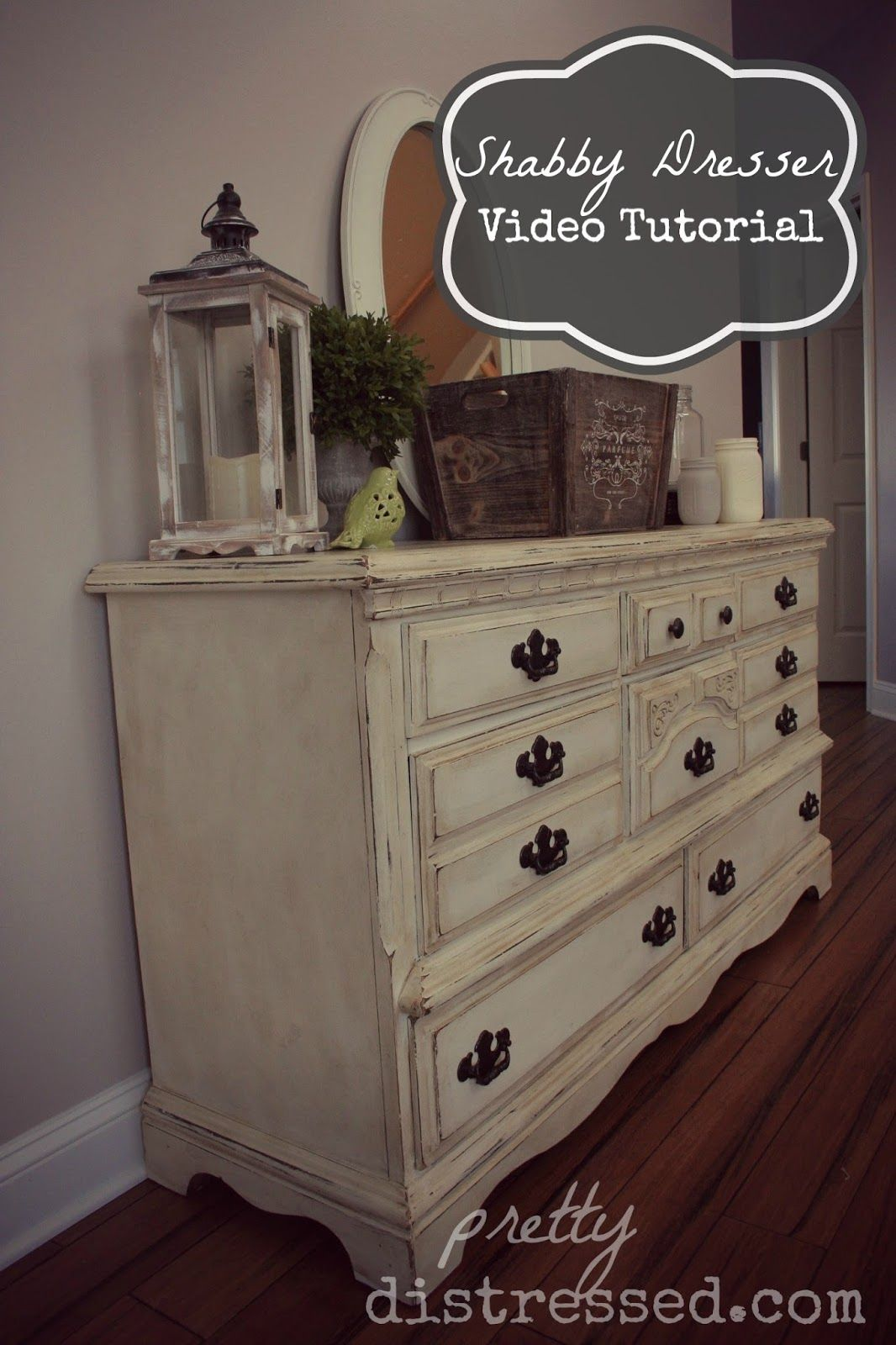 Pretty Distressed Goodwill Dresser Video Tutorial Part 1