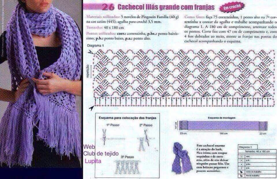 Pin de Dusica Pavlovic en Crochet scarf, poncho etc. | Pinterest ...