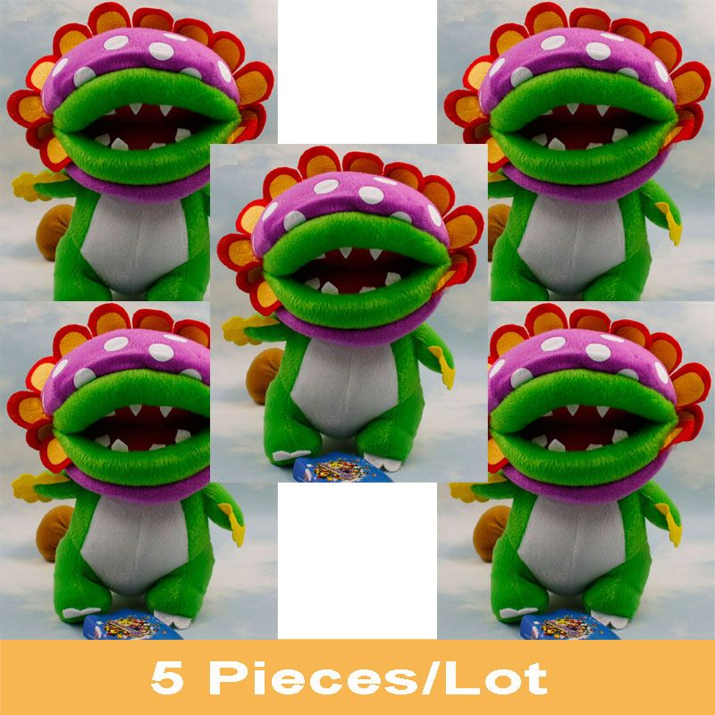 """Find More Movies & TV Information about New 5 PCS Super Mario Petey Piranha Plush Doll Figure Kids Toys Free Track Approx 8""""/20cm Birthday Gift,High Quality gift soap,China toy sword Suppliers, Cheap gift toy from Toys in the Kingdom on Aliexpress.com"""