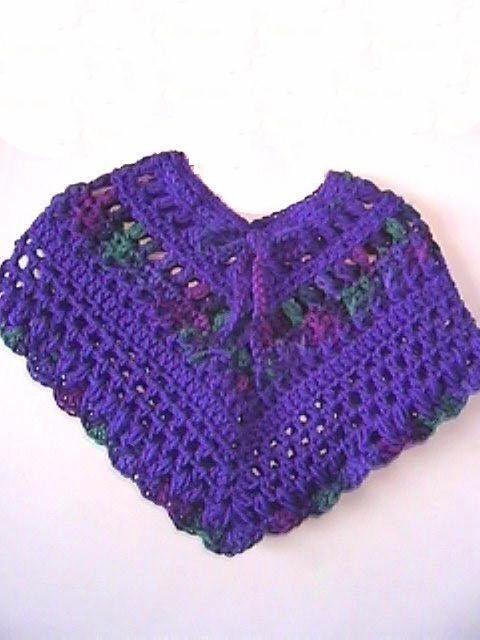 Free Crochet Pattern 80981AD Endearing Girl\'s Poncho : Lion Brand ...