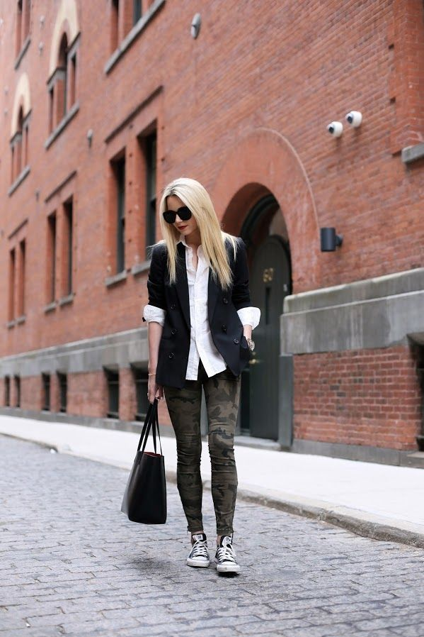 While camouflage prints may have originated in the military, today's top bloggers, editors and style stars prove that it can look quite stylish and sophisticated. Whether you opt to work camo into a sporty look or glam it up with bold accessories and lots of sparkle, there are so many ways to wear...