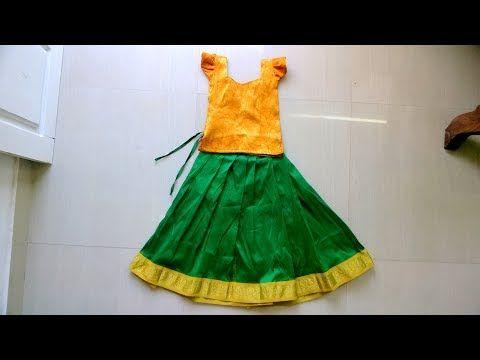 08b4ff3c65 Skirt Stitching / Pattu Pavadai Making Easy Method(DIY) - YouTube ...