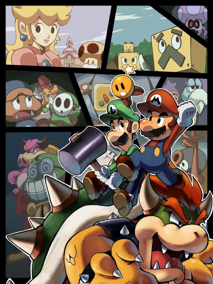 Mario Luigi Bowser S Inside Story Super Mario Art