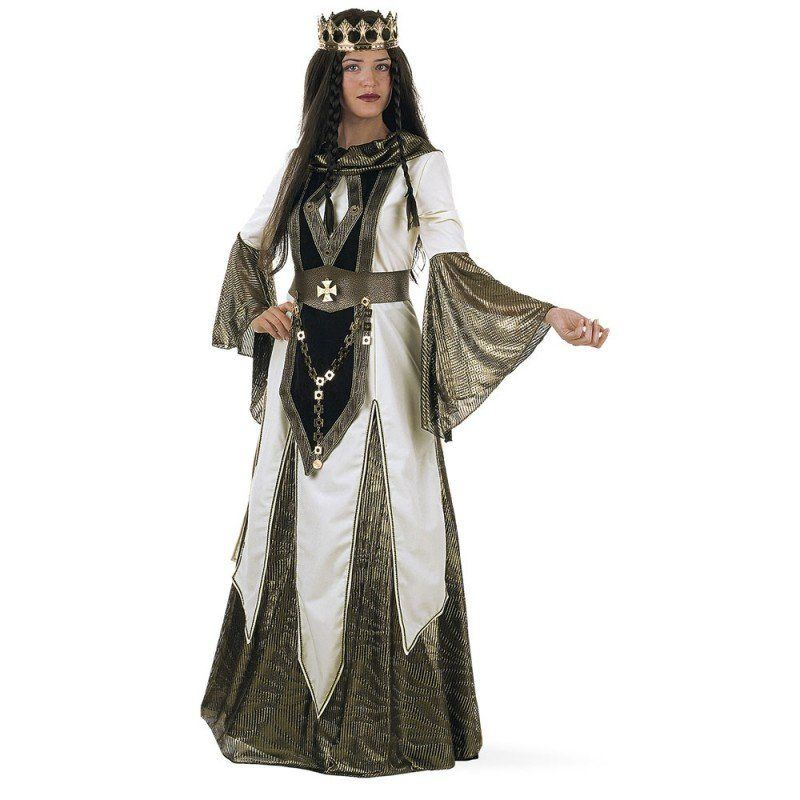 Mittelalterliche Kreuzkönigin Kostüm Deluxe kaufen ...