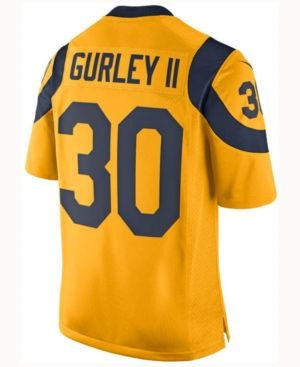 0f74c204c Nike Men s Todd Gurley Los Angeles Rams Limited Color Rush Jersey - Gold XXL