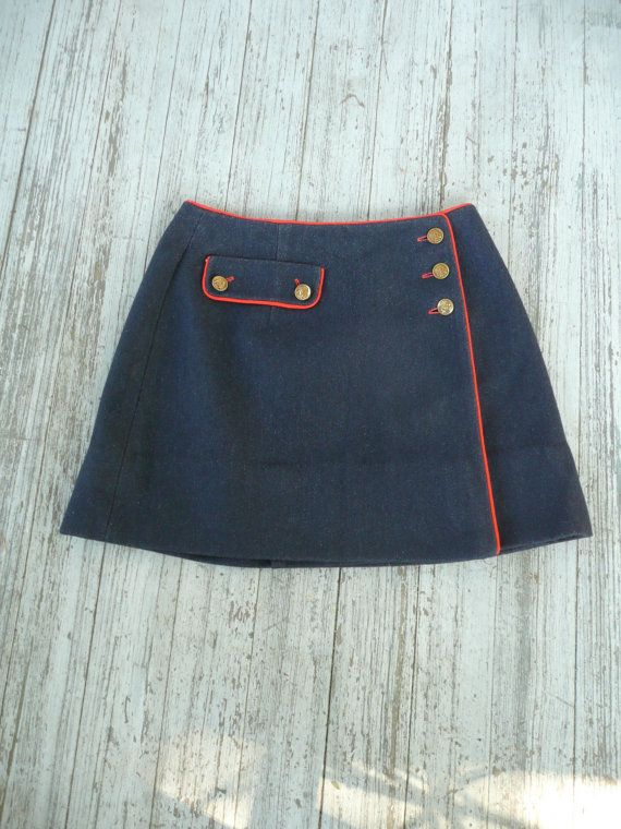 60's Mod Carnaby Street Modern Wool Wrap Mini by FrontPageVintage, $46.00