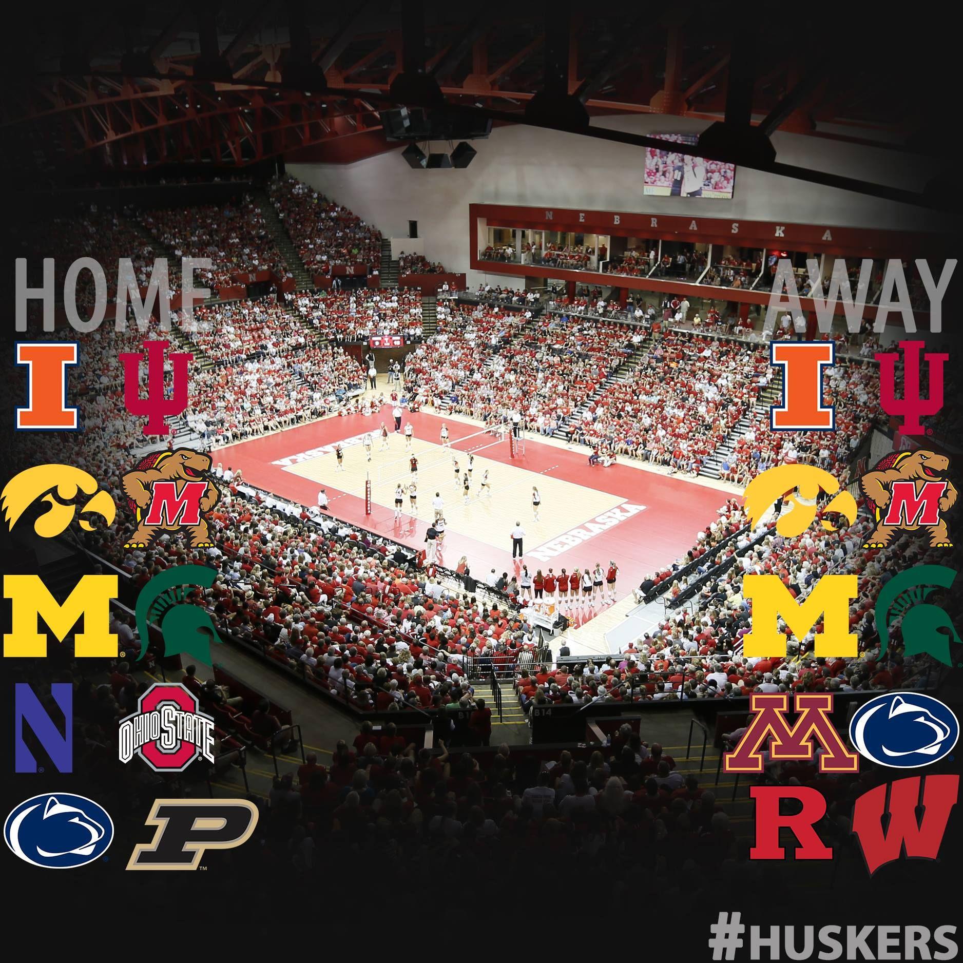 Nebraska Huskers Volleyball Schedule Release Graphic Nebraska Huskers Husker Nebraska