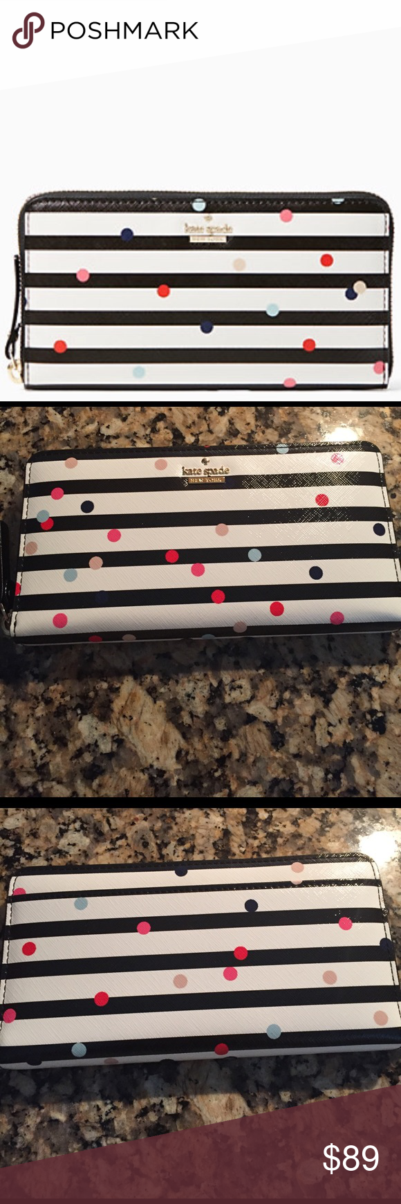 Kate Spade Wallet Confetti Dot Lacey. Lowest is $89. kate spade Bags Wallets