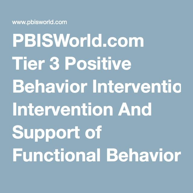 Pbisworld.Com Tier 3 Positive Behavior Intervention And Support Of