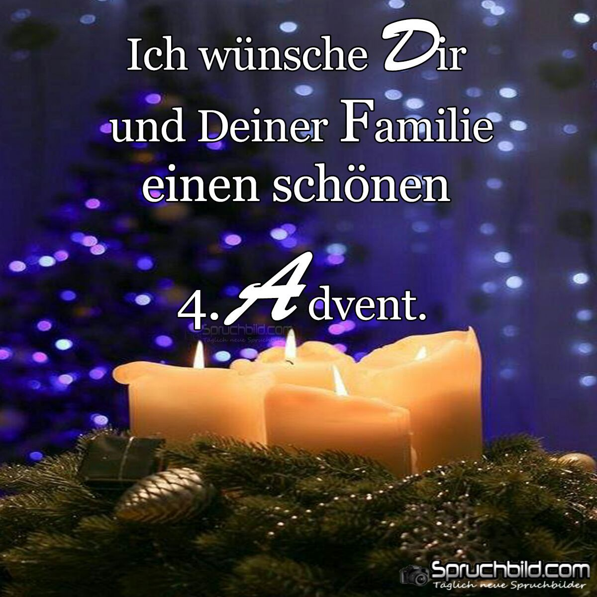 4 Advent Weihnachten Advent Spruche Advent