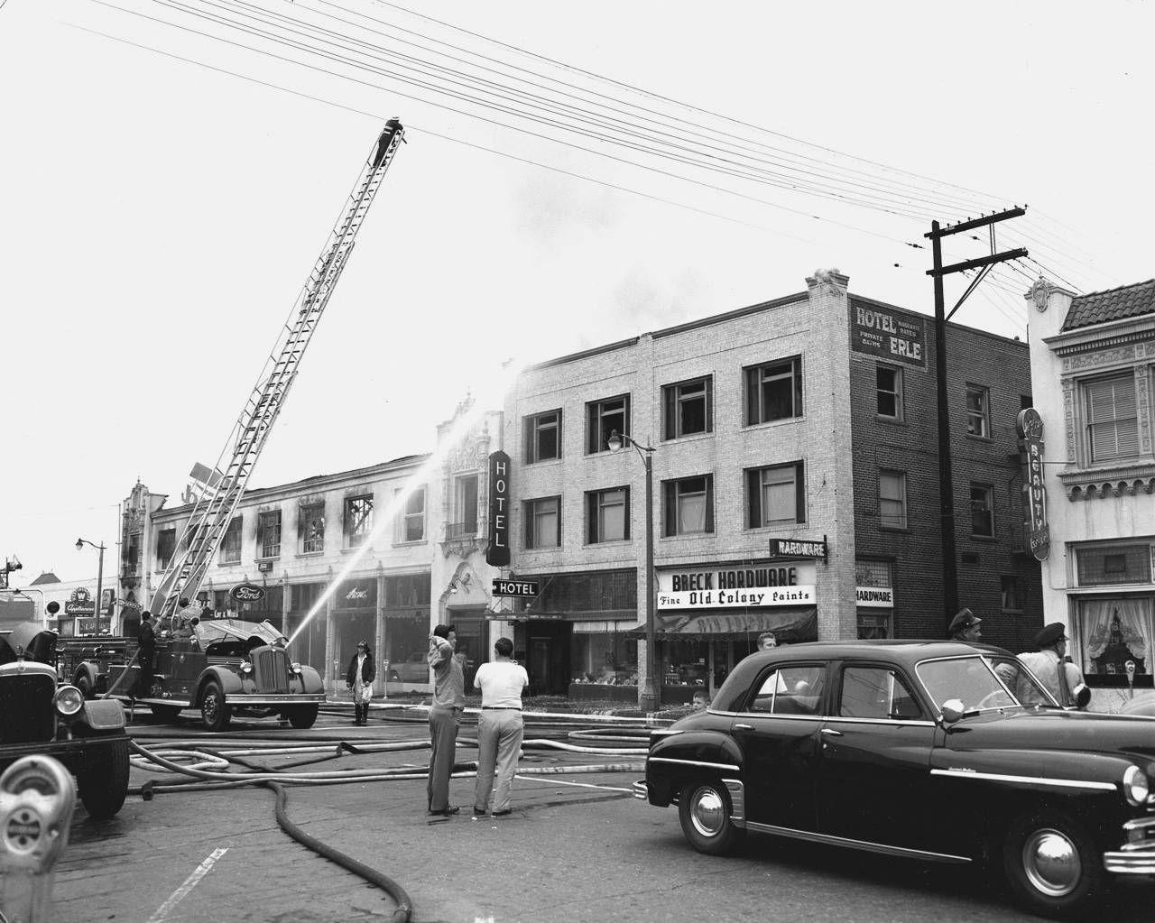 Fire at McCoy & Mills Ford Dealership, Fullerton