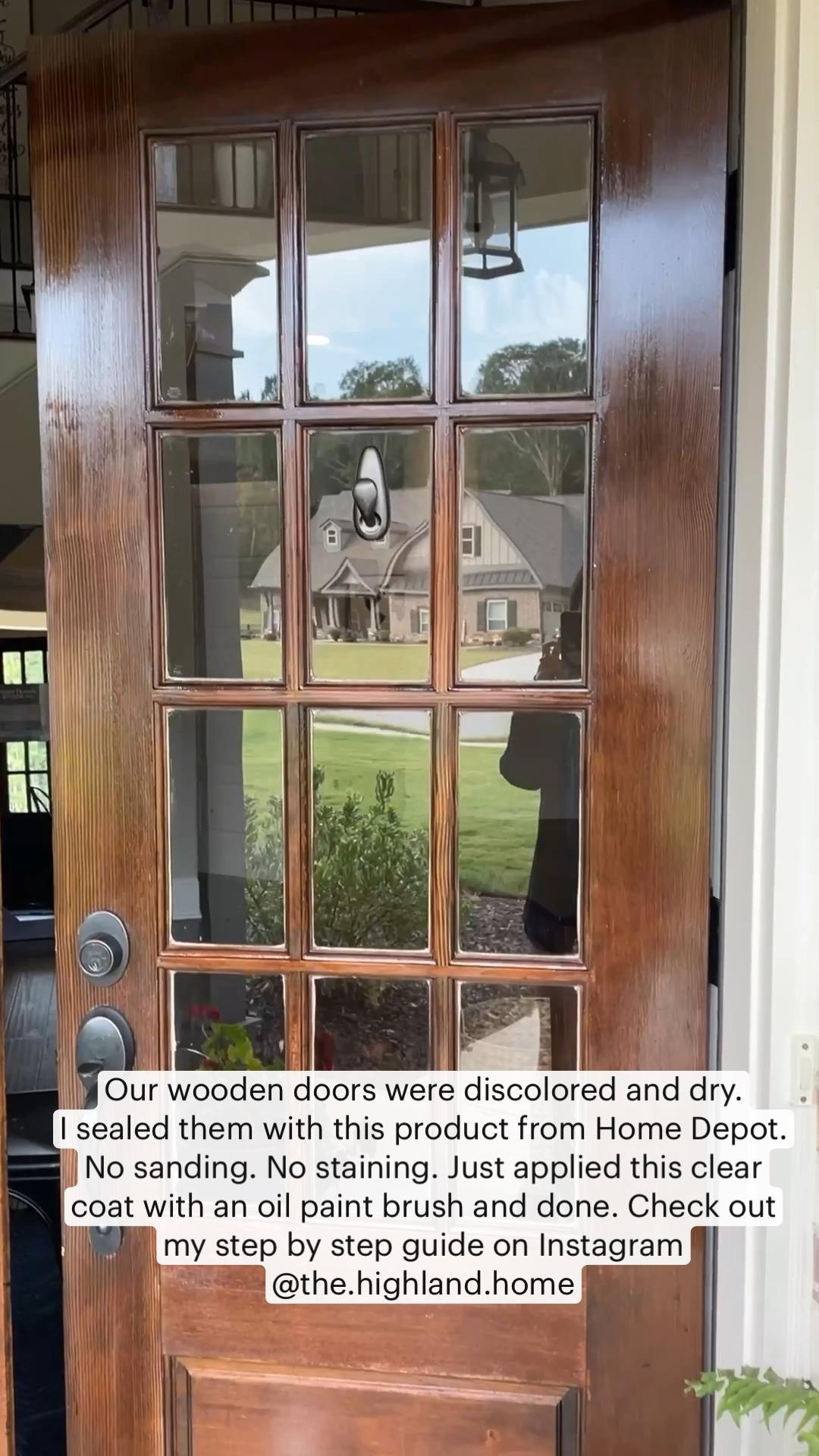 How to seal your wooden front door.
