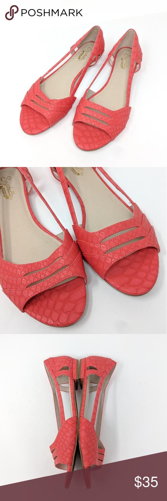 Seychelles Heritage Salmon Flat Peep Toe Sandal Peep Toe Sandals Peep Toe Seychelles Shoes Sandals