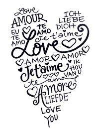 amour à la carte amour À imprimer pour une carte pour un mariage ou la saint