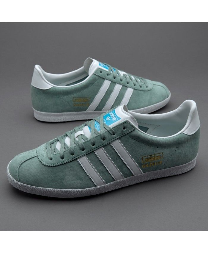 online store 77944 a29cb Adidas Sale Originals Gazelle Og Legend Green Trainers