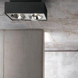 LIRIO Bloq Dobbel Spot Sort/Hvit